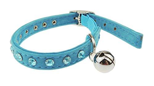Sparkly Velourssamt Diamnte Cat collar- erhältlich in 5Farben besetzt