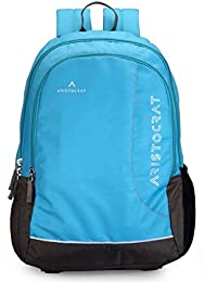 Aristocrat Zing Fabric 27 Ltrs Sky Blue Laptop Backpack (LPBPZIN3SBL)