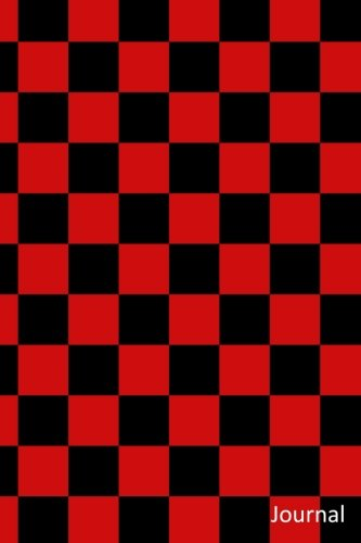 Journal: Black and red checkers notebook