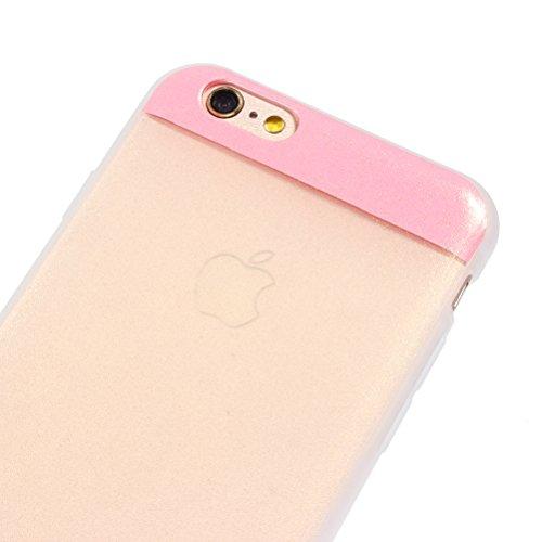"iPhone 6 Glitzer Hülle 4.7 "", iPhone 6S Bling Bling Hülle Gold, Schick Luxus Shiny Glanz Sparkle Ultra Dünn Transparent Durchsichtig Klar Crystal Kristall Weiches Bumper Gel TPU Silikon Gummi Tasche K Pink"