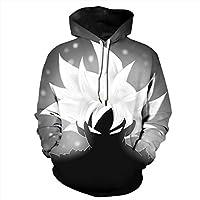 CHENMA Men Dragon Ball 3D Print Pullover Hoodie Sweatshirt with Kangaroo Pocket (Tag M/US S, Color 4)