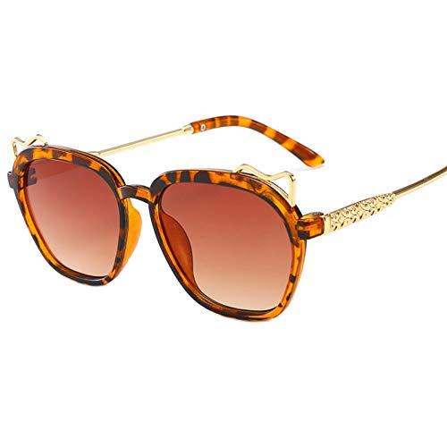 Taiyangcheng Kinder Sonnenbrillen Steampunk Kind Schwarz Sonnenbrille Anti-Uv Baby Sun-Shading Brillen Girl Boy Sonnenbrillen,Braun
