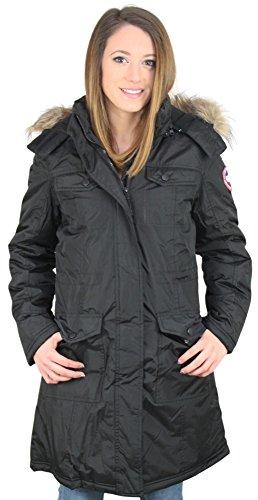 Canada Weather Gear Cappotto da donna giacca invernale in piumino d' oca Black Small