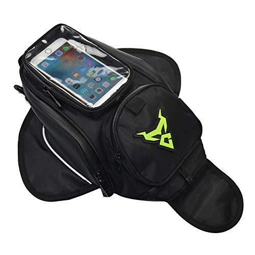 libelyef Motorrad-Tanktasche, klein, wasserdicht, Oxford für Fahrrad, Telefon, Ladung Kleidung grün