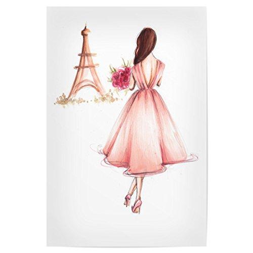 artboxONE Poster 30x20 cm Fashion Girl in Paris hochwertiger Design Kunstdruck - Bild Fashion von Dorina Nemeskéri