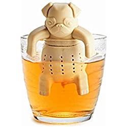 Pug in a Mug Silicone Tea Infuser, a Strainer for Drinking Loose Leaf Tea & Herbs in a Cup or Pot. Great Gift. Dishwasher Safe by Inspire