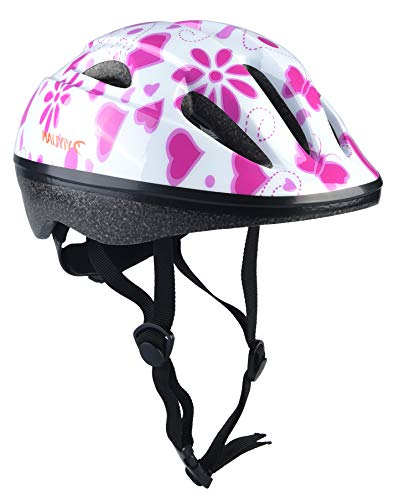 YIYUAN Kids Cycle Helmet for Bike Riding Safety,Blanc,S(52-56 cm)