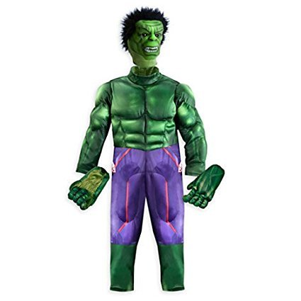 Hulk Deluxe Kostüm für Kinder Größe: 3 (Captain Deluxe Hook Kostüm Disney)