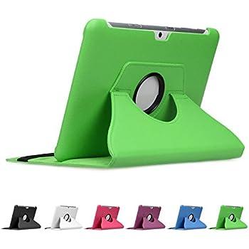 """doupi 360° Deluxe finta pelle Casi (Verde) per Samsung Galaxy Tab 2 ( 10,1 pollici ) Tab II 10.1"""" Cover Case 360 gradi Etui protezione Busta Stare in piedi Custodia protettiva Verde"""
