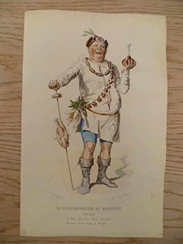 Kostüm De Marie Paris - La Condamnacion de Bancquet. Kolorierter Stahlstich
