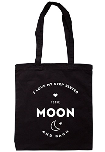 breadandbutterthreads i love my passo Sister to the Moon and Back Borsa 37,5 cm x 42 cm con manici lunghi Black