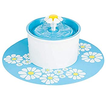 CJN Tapis De Sol en Silicone Imperméable pour Distributeur d'eau pour Fontaine d'eau Filtre Rond Ultra-Silencieux en Résine PP Ronde (Vert, Orange, Bleu),Blue