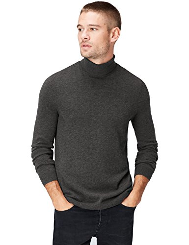 find. Roll Neck Pull, Gris (Mid Grey), 54 (Taille Fabricant: X-Large)