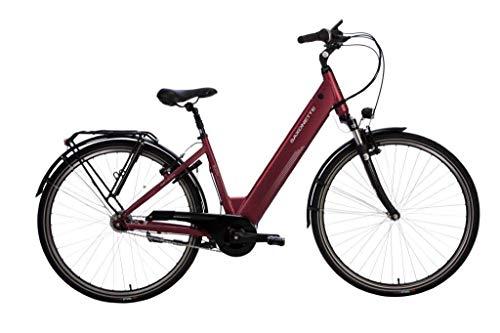 28 Zoll Saxonette Elektro Fahrrad E Bike Pedelec Shimano 7 Mittelmotor Rücktritt weinrot