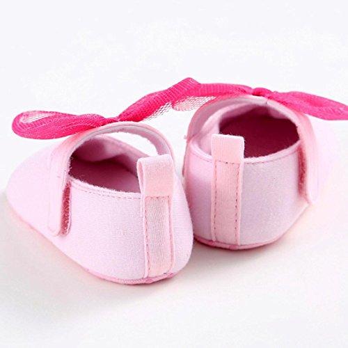 Chaussures de bébé,Transer ® Fille doux berceau unique de Bowkhot Toddler premières chaussures de marche Rose