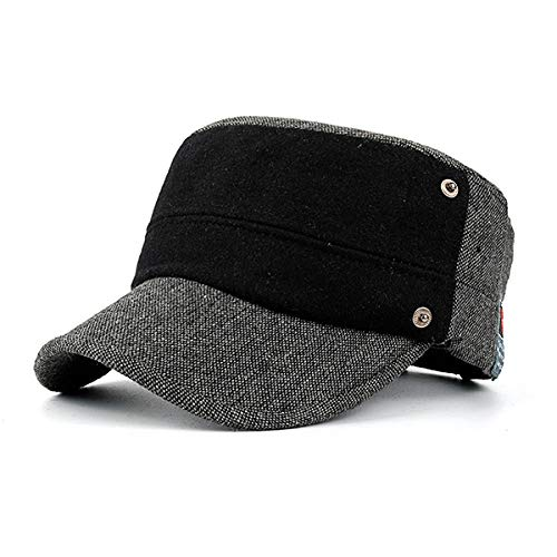 c88862895 CDXDSV Hommes Patchwork Chaud Chapeau Casquette Réglable Gentleman Golf  Military Cap (Color : Color Dark Grey, Size : One Size)