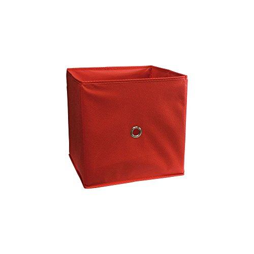 Boite de rangement - Cube de Rangement Rouge 32 x 32 x 32 cm