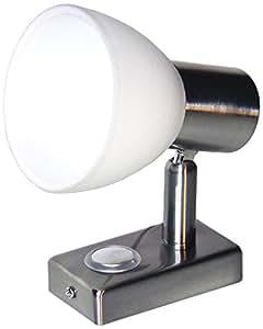 LIGHTEU LED Aufbauspot, 12 V, 3 W, dreh, schwenkbar und dimmbar mit Touchschalter, Nickel, warmweiß/blau LT-77120NI