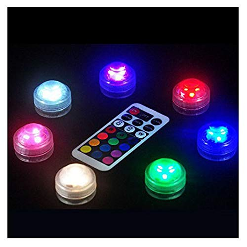 caxmtu 13LED Beleuchtung Lampe Tauchpumpe Fernbedienung Colorful für Aquarium Tauchen Unterwasser Fische Tank -