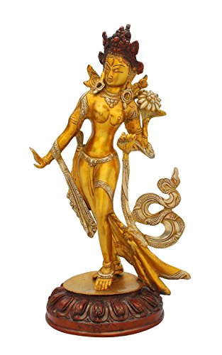 StatueStudio India hand made brass beautiful showpiece of standing sculpture gift set 14