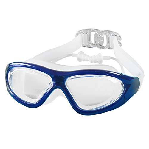 BAOFI Schwimmguder Free Protection Case Professional Flat Light Eyewear Anti Nebel Shatterproof UV-Schutz Große Rahmen EIN-Stücker Triathlon Ausrüstung-Beste Schwimmbrille (4 Farben),Blue