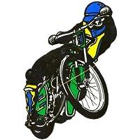 Speedway Aufkleber innen Schwarz grün blau gelb