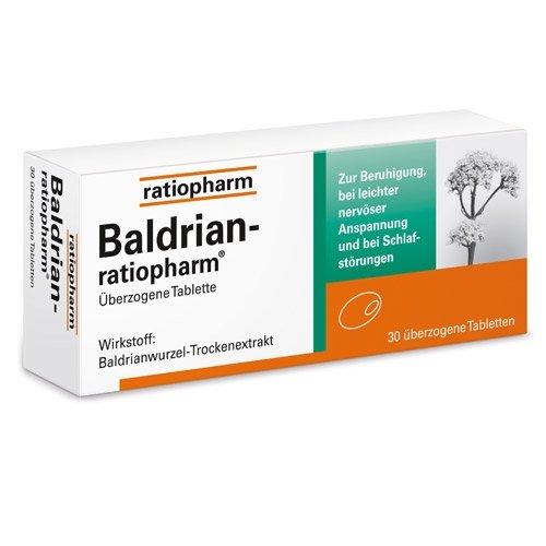 BALDRIAN-RATIOPHARM überzogene Tabletten 30 St Überzogene Tabletten