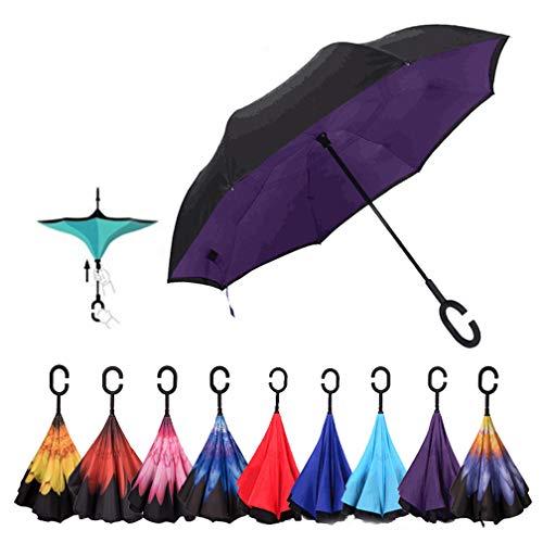 Gorgebuy Paraguas inverso - Paraguas invertidos Doble