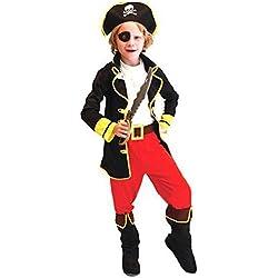 Traje de capitán pirata para niño, diferentes tallas.