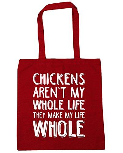 hippowarehouse-todo-pollos-no-son-mi-vida-hacen-toda-mi-vida-tote-compras-bolsa-de-playa-42-cm-x38-c
