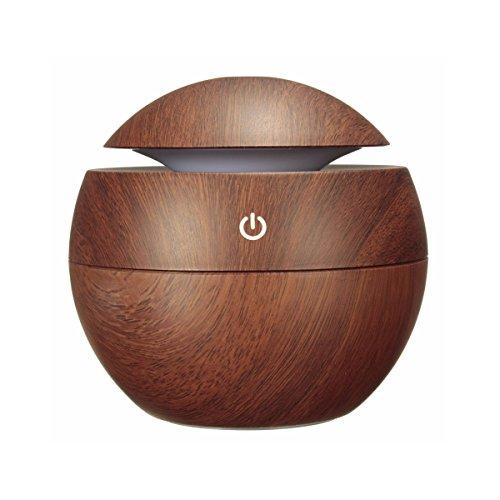 MOHOO 130ml Diffuseur d'Huiles Essentielles USB Diffuseur Électrique Purificateur d'air avec Couleurs Changeables LED pour Chambre Bureau Salon Yoga,SPA (S2)