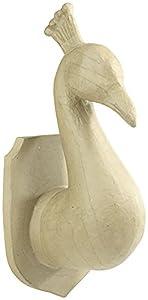 Décopatch-Trofeo Pavo Real en cartón marrón, sa188C, 13,5x 11,26,5cm