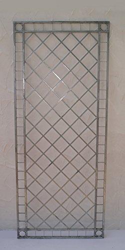 SPALIER 120 x 30cm Braun Metall Rankgitter Rankhilfe Sichtschutz Wandgitter
