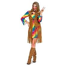 Folat 63343 – – Flower Power Hippie Femme Robe Taille S/M