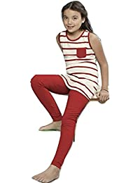 Night Suit for Kids / Girls - Night wear - Track Suits - Pyjama Tshirt Night Wear Combo Set  - Sinker Material  - Half Sleeve - Branded Valentine Kids Wear -For 6/8/10/12/14/16 Year Girls - Track Pant and T-shirt