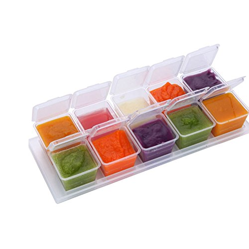 Meijunter Mini Baby Food Container Boxen mit Tray Safe Freezer Storage für selbstgemachte Gemüsesosse Food Storage Tray