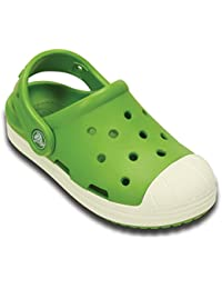 crocs Kids Unisex Bump It Bump It Parrot Green/Oyster Clogs