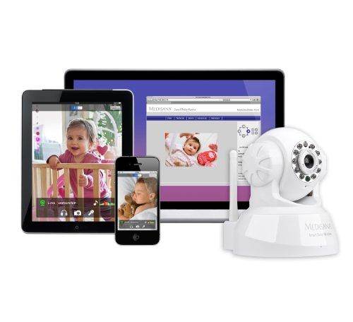 Medisana Smart Baby Monitor (Audio- und Videoüberwachung mit Smartphone, Tablet, PC/MAC)