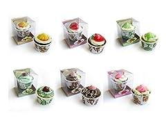 Idea Regalo - Set di 20PZ di Gelato con sapone 90gr presentati in scatola di regalo-saponi convenienti E Originali per dettagli di matrimoni, battesimi, comunioni invitate