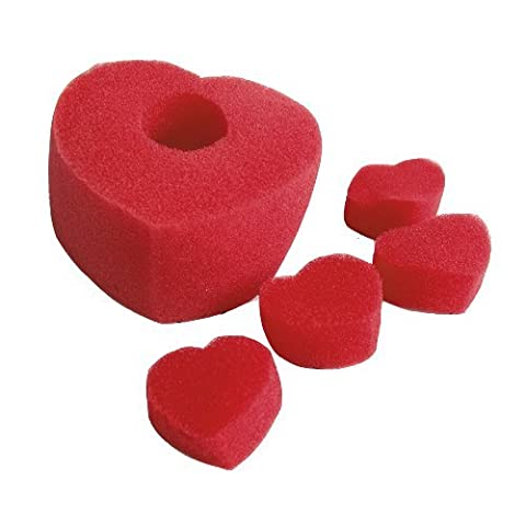 Multiplying Sponge Hearts Close Up Magic Tricks Halloween Party Prop---Red
