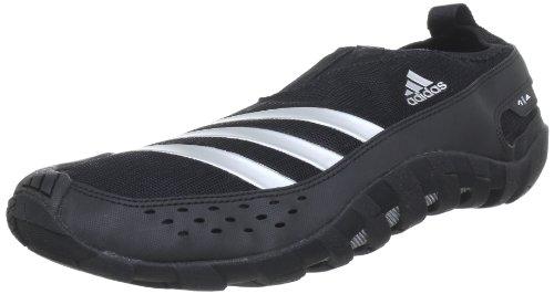 adidas JAWPAW II, sabots et mules homme Noir - Schwarz (Black 1 / Metallic Silver / Black 1)