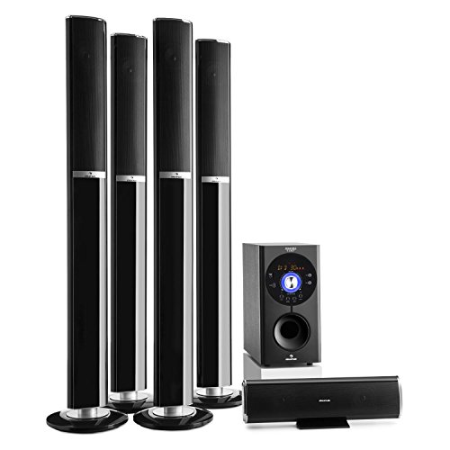 auna Areal 652 Sistema de sonido 5.1 Bluetooth (145W potencia RMS, altavoces...
