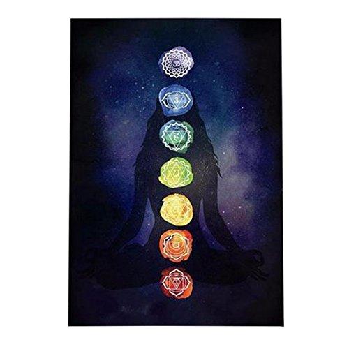 Mandala Manta de Playa Tapiz de Yoga Indio con Diseño de Hippie y Meditación de Zen Esterilla de Yoga Chal Bohemio Tapices Decoración para el Hogar(59.1x29.5 Pulgada)