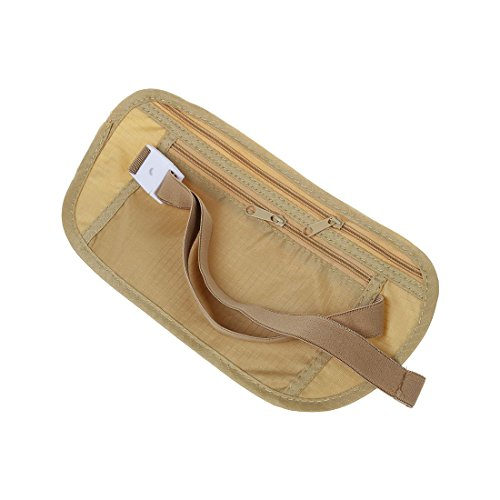 SODIALR Bolsa billetera pasaporte cremallera cinturon