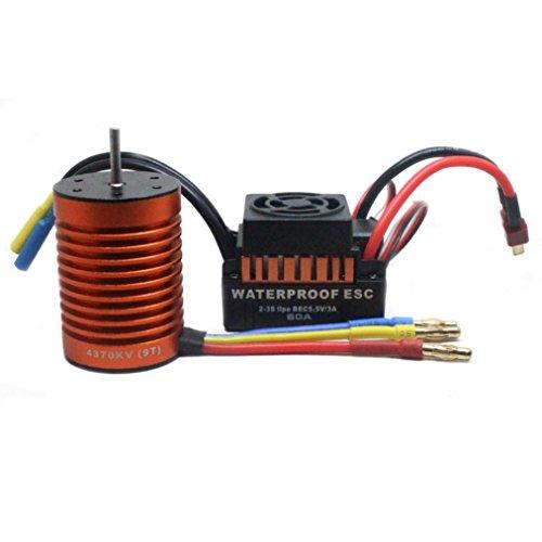MMLC 9T 4370KV Brushless Motor + 60A ESC Geschwindigkeitsregler Combo ME720 für 1/10 RC Auto (a)