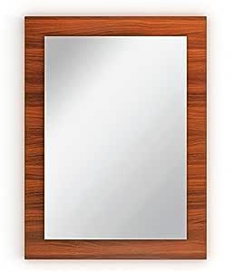 BLUEWUD Akira Engineered Wood Wall Mounted Dressing Mirror (Walnut Standard)