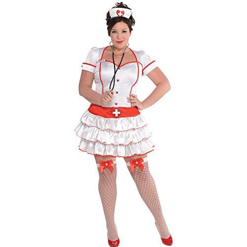 Krankenschwester Kostüm Damen Gr. XL (Plus Size Krankenschwester Kostüme)