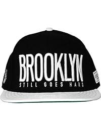 Cayler sons-& casquette snapback casquette de brooklyn de ville-noir/blanc/cuir-blanc