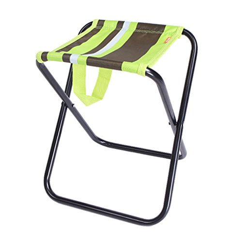 Chaises pliantes Chaise pliante de pêche en plein air tabouret pliant portable Sketch trompette chaise Mazar léger bleu poids 80 kg (Color : Green)
