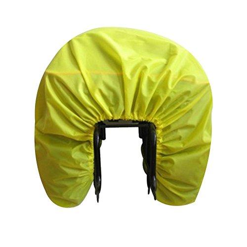 AUVSTAR - Funda impermeable para asiento trasero de bicicleta, funda impermeable para bolsas de viaje, bolsa para maletero, bolsa para mochila, bolsa de equipaje y alforja, ultraligera y plegable para lluvia de bicicleta (amarillo)